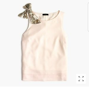 New J.crew tee tank with a shoulder bow